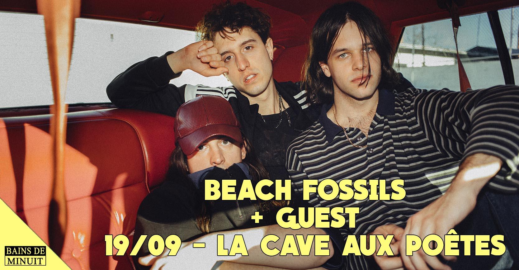 19/09 – BEACH FOSSILS (us) + Pastel Coast (fr) / La Cave aux Poètes, Roubaix